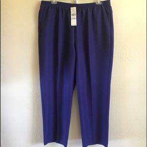 Alfred Dunner Purple Pull on Pants NWT